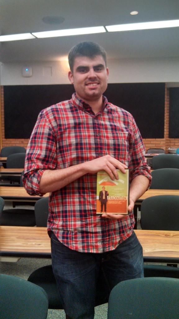 Sam Wigley, a junior at Clemson, was the winner of the Fracknation giveaway